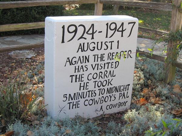 Rodeo Animal Cemetery Oklahoma City Oklahoma Atlas