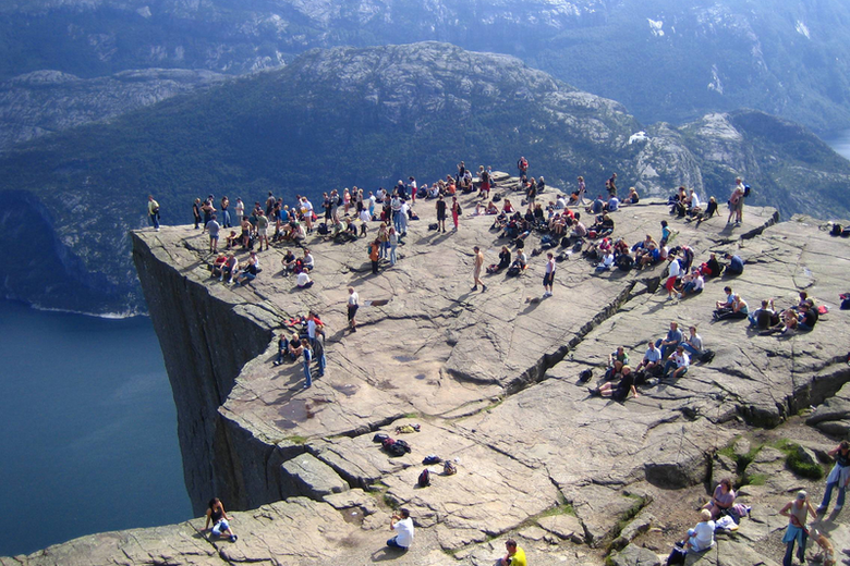 57 cool and unusual things to do in norway atlas obscura preikestolen sciox Images