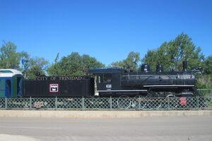 The last coal-burning steam engine.