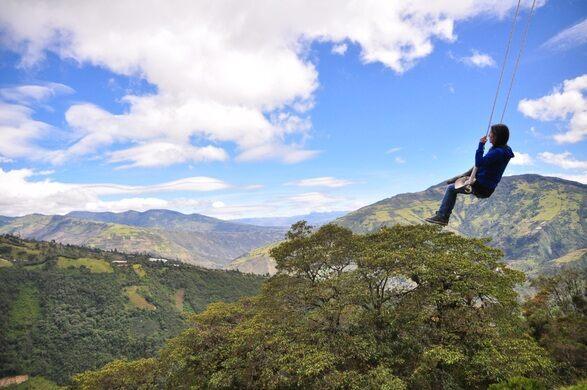 a3bed2189 Swing at the End of the World – Banos, Ecuador - Atlas Obscura
