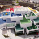 Incredible exterior of Lego House