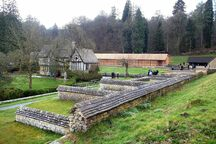 Chedworth Roman Villa, view from northeast.