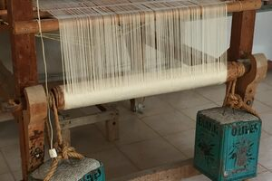 Silk loom at the monastery.