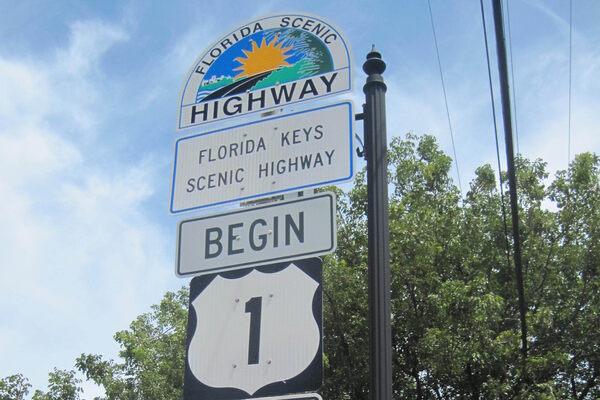MILE 0 KEY WEST Street Sign marker zero southernmost keys Florida