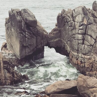 Fog And Rock Formations At Asilomar State Beach In Pacific ... |Rock Pacific Grove California