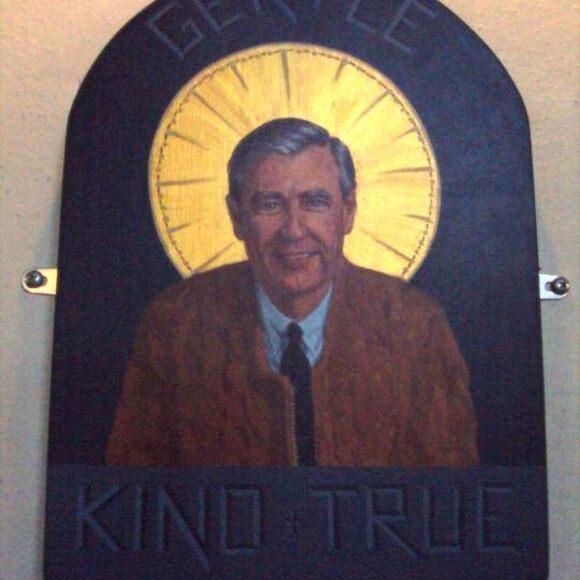 Mister Rogers Icon At St Paul S Church Nantucket Massachusetts Atlas Obscura