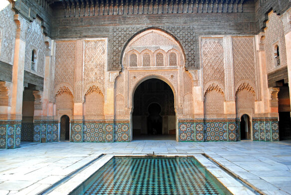 Open spaces at Ben Youssef Madrasa