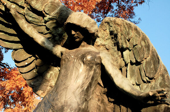 The Black Angel of Oakland Cemetery – Iowa City, Iowa