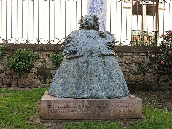 Sculpture of Eugenia Martínez Vallejo in Avilés, Spain