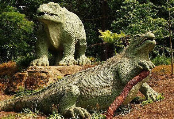 Map Of Dinosaur Islands Crystal Palace Sydenham