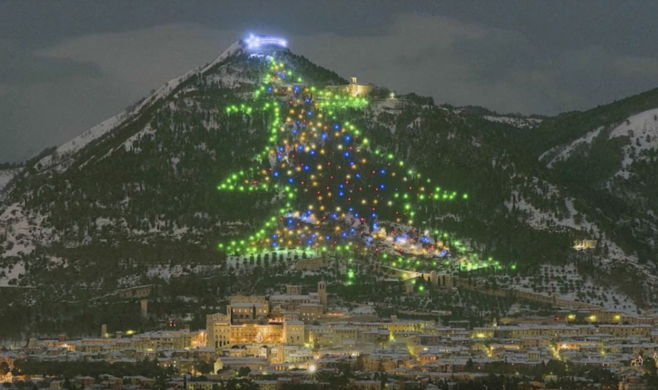 gubbio christmas tree vito panzella cc by 20 - Worlds Largest Christmas Tree