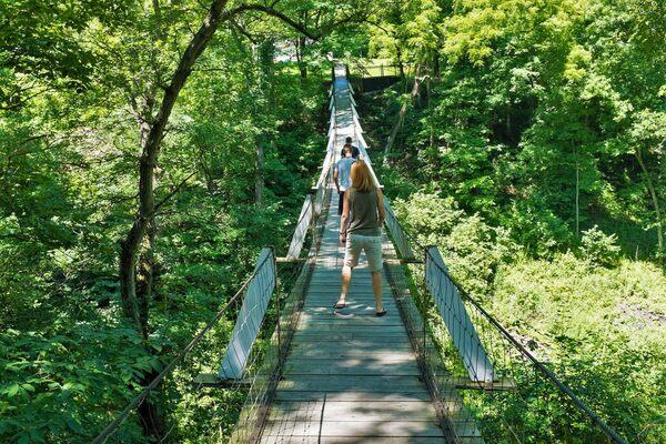 Lover S Leap Swinging Bridge Columbus Junction Iowa