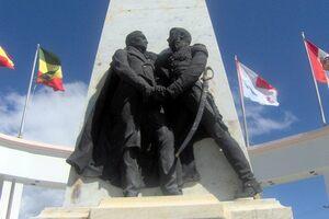Embrace of Bolivar and Morillo.
