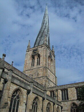 Chesterfields crooked spire chesterfield england atlas obscura view all photos altavistaventures Image collections