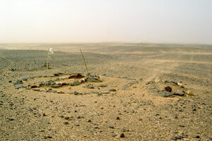 British graves at the battle site of Abu Klea