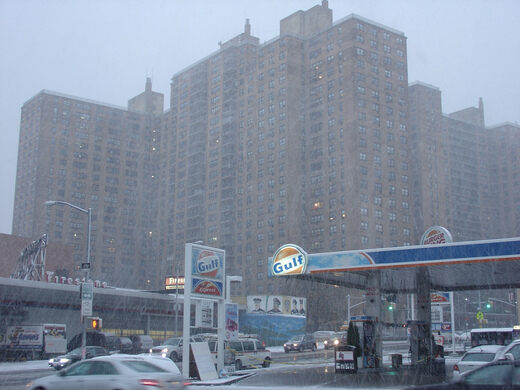 Ebbets Field Apartments On A Snowy Day Rich Mitchell Cc By 2 0