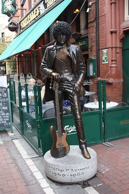 Phil Lynott Statue – Dublin, Ireland - Atlas Obscura
