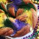 Cinnamon cream cheese–filled King Cake.