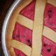 A pie dyed with Alkermes.