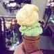 Keso atop avocado ice cream.