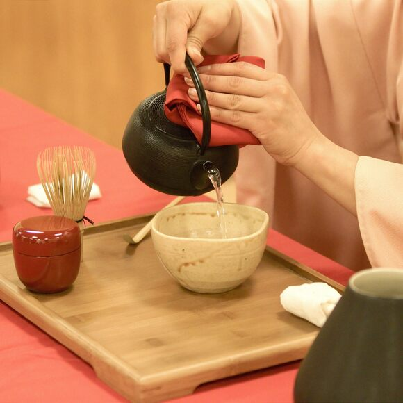 One step in the highly codified Japanese tea ceremony.