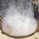 Sumalak cooked during Nowruz in Tajikistan.
