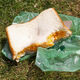 The Masters sandwich and its trademark green wrapper.