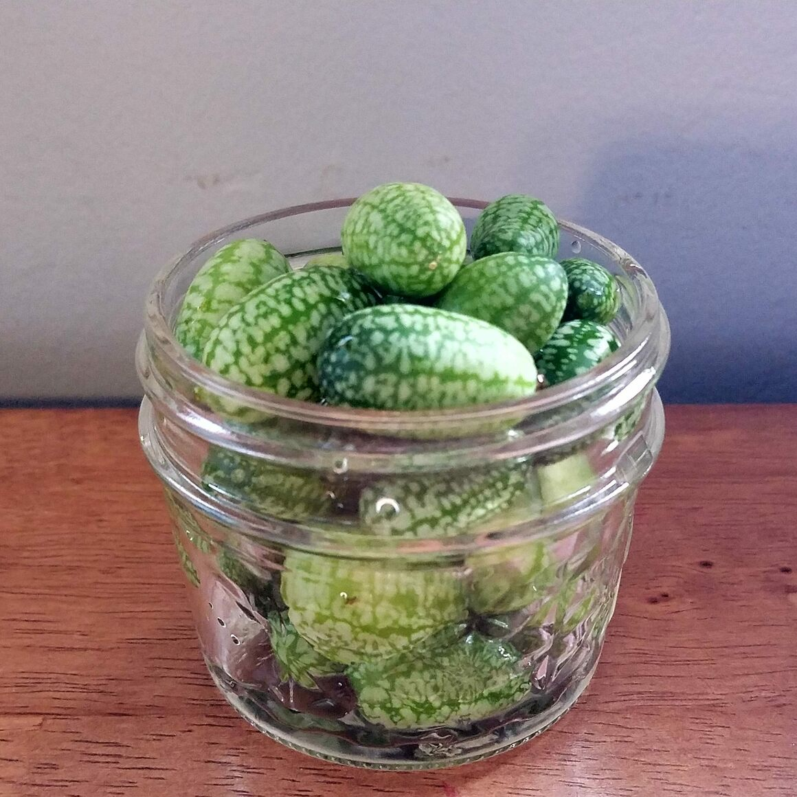 They look like mini melons, but they taste like sour cucumbers.