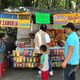 A Dorilocos vendor in Bosque de Chapultepec, Mexico City.