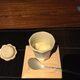 Wasabi flavored local citrus sherbet - from a wonderful onsen called Hanafubuki in Izu-Kogen, Japan