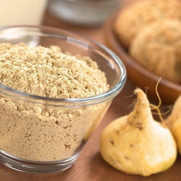 Powdered maca root.