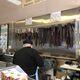 Biltong and dried sausage (droewors) hanging at LA's Sausage Kitchen