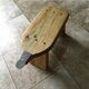 A modern take on the coconut grater stool.
