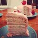 A funfetti and strawberry take on Smith Island Cake.