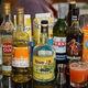Zombie ingredients: rums, juices, liqueur, absinthe, and syrup.