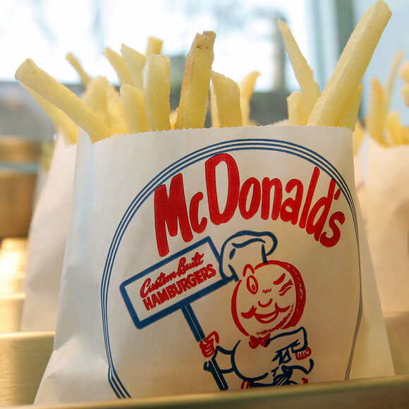 A replica of the original McDonald's fries in the McDonald's No. 1 Store Museum.