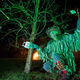 "Some revelers dress as the ""Green Man,"" a folkloric figure."