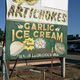Billboards advertising garlic ice cream dot the roadways near Gilroy.