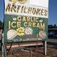 Billboards advertising garlic ice cream dot the roadways near Gilroy.
