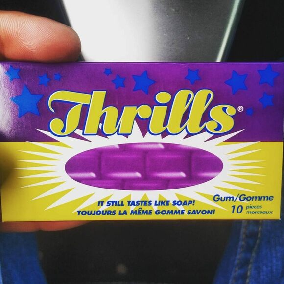 Get your thrills with rosewater gum.