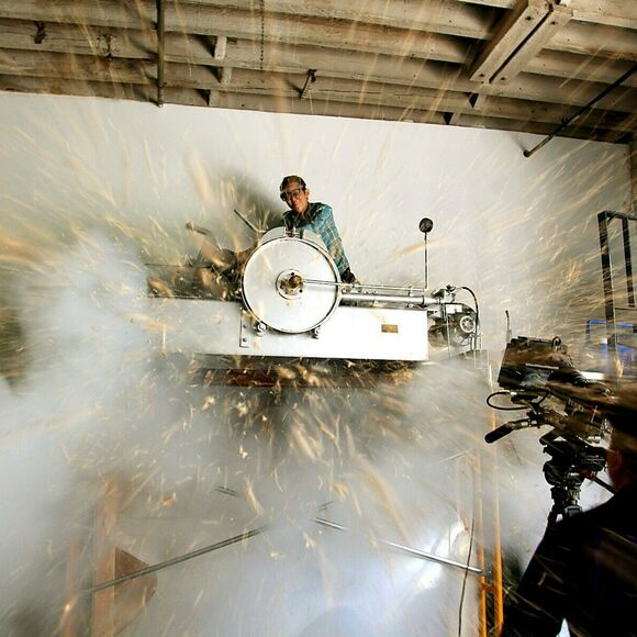 MOFAD's puffing gun in action.
