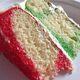Christmas poke cake.