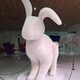 The Fazer lobby boasts a massive sculpture of a bunny fashioned out of Mignon eggs.