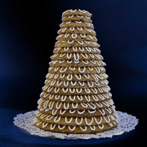 A Kransekake in all its glory.