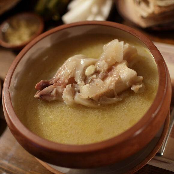A bowl of Armenian khash.