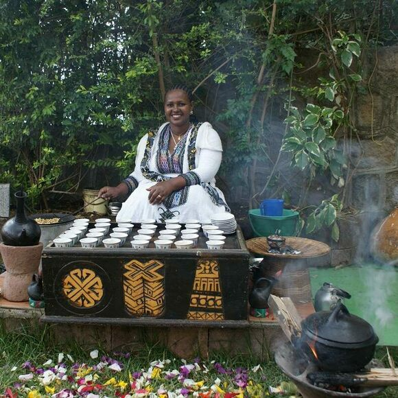 Coffee ceremonies are family and community events.