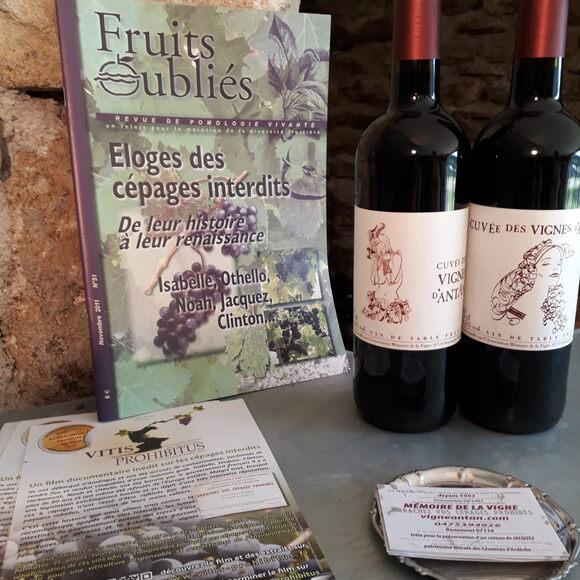 Bottles of Cuvée des Vignes d'Antan.