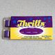 Thrills gum is as purple as its packaging.