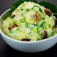 Colcannon with scallions and bacon.