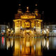 The Golden Temple at night. It's open 24 hours a day.